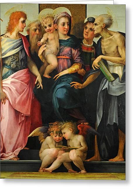 Altarpiece Of Santa Maria Nuova Greeting Card