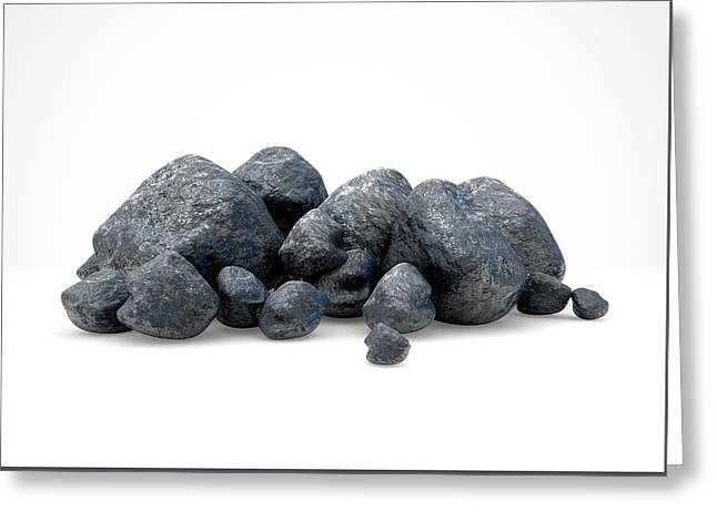 Aluminum Nugget Collection Greeting Card by Allan Swart