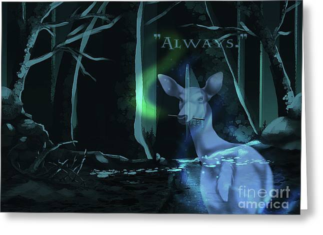 Always - With Text Greeting Card by Torachi Lyncaster