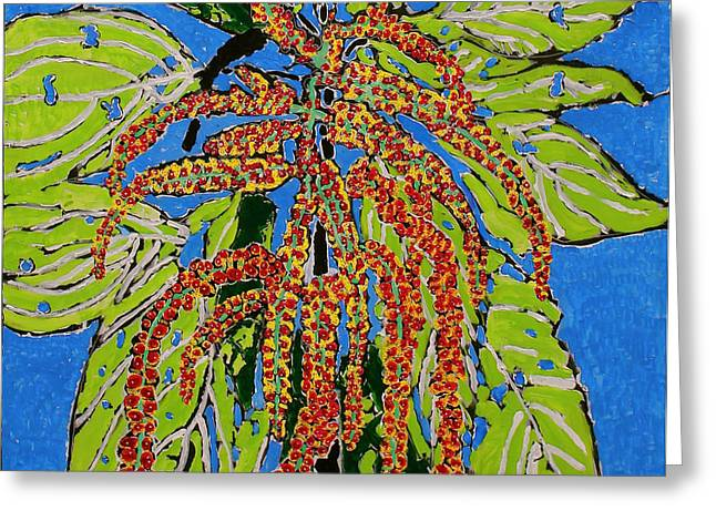 Amaranthus Sold Greeting Card by Ray  Petersen