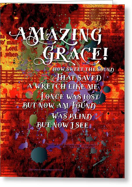 Amazing Grace Greeting Card by Chuck Mountain