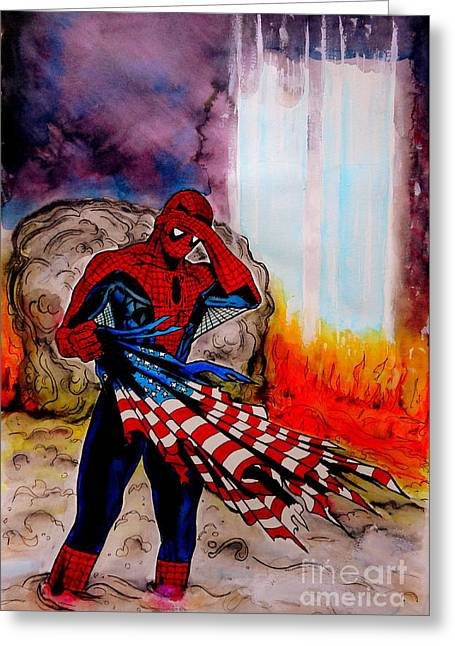 Amazing Spider-man 9/11 Tribute Greeting Card