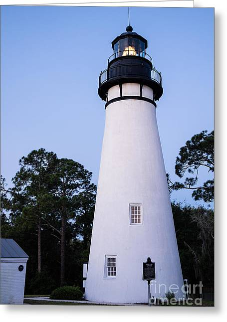 Amelia Island Lighthouse-fernandina Beach Florida Greeting Card