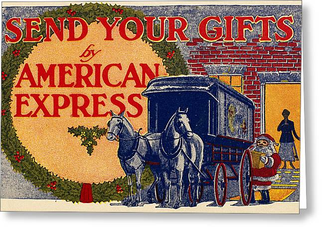 Express Greeting Cards - American Express Shipping Greeting Card by Granger