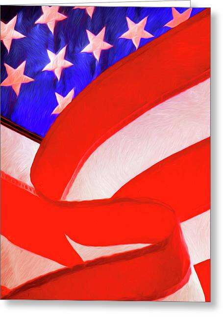 American Flag Greeting Card by George Robinson
