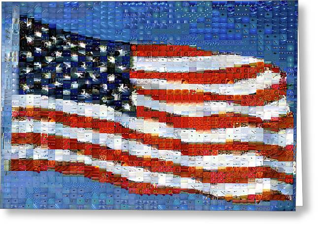 American Flag Greeting Card by Panoramic Images
