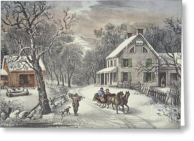 American Homestead   Winter Greeting Card