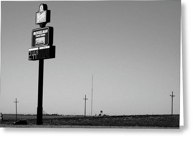 Greeting Card featuring the photograph American Interstate - Kansas I-70 Bw 4 by Frank Romeo