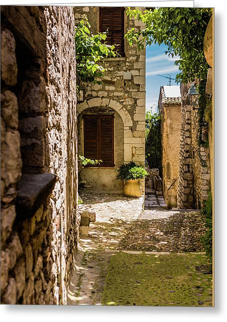 An Alley In Saint Paul De Vence, South Of France. Greeting Card