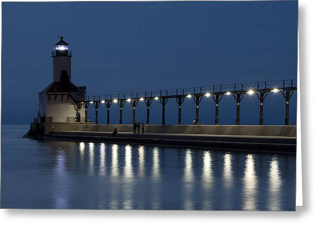 An Evening At The Lighthouse Greeting Card