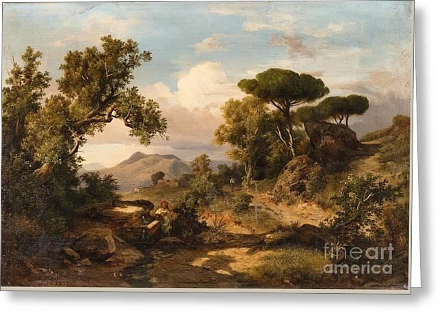 An Italian Landscape Greeting Card