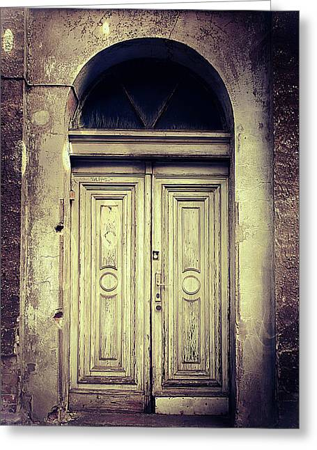 An Old Door  Greeting Card by Tom Gowanlock