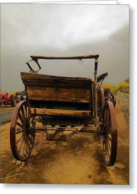 An Old Wagon Greeting Card
