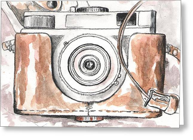 Analog Camera Greeting Card by Jovana Babic