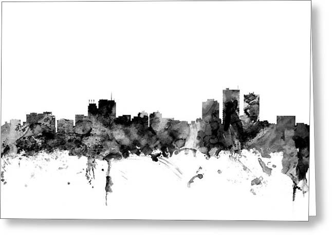 Anchorage Alaska Skyline Greeting Card