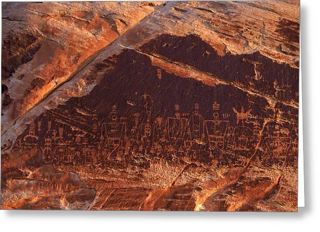 Ancient Pueblo-anasazi Rock Art Greeting Card by Ira Block