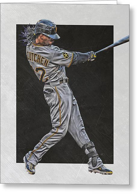 Andrew Mccutchen Pittsburgh Pirates Art Greeting Card