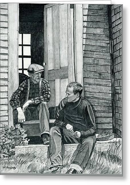 Andrew Wyeth And Alvaro Olson Greeting Card