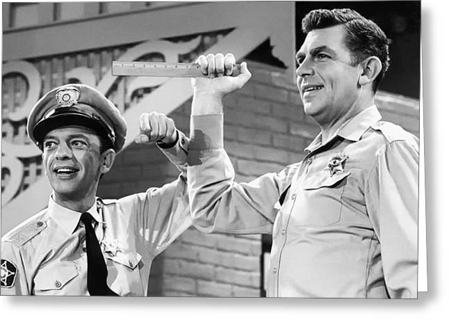 Andy Griffith And Don Knotts - 1970 Greeting Card by Mountain Dreams