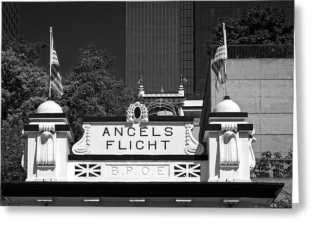 Flag Stones Greeting Cards - Angels Flight - Los Angeles Greeting Card by Mountain Dreams