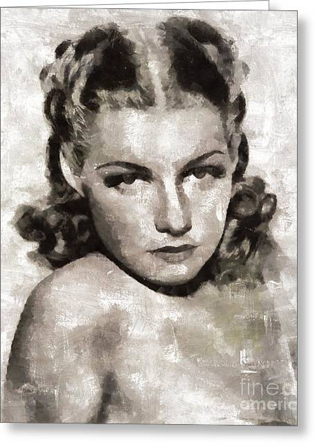 Ann Sheridan Hollywood Actress Greeting Card