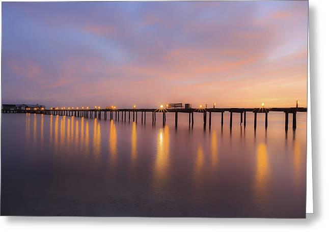 Anna Maria City Pier , Anna Maria Island Sunrise  Greeting Card