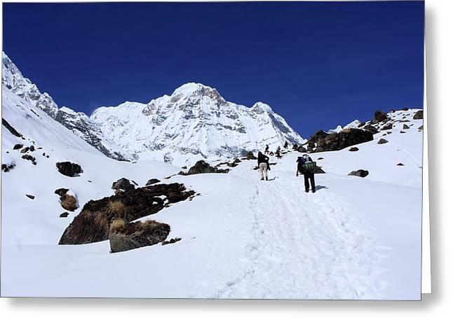 Annapurna South 7,219m Greeting Card by Aidan Moran