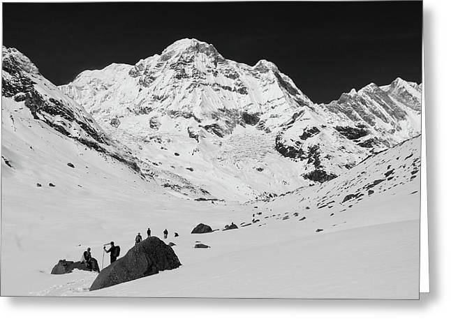 Annapurna South, Himalayas, Nepal Greeting Card by Aidan Moran