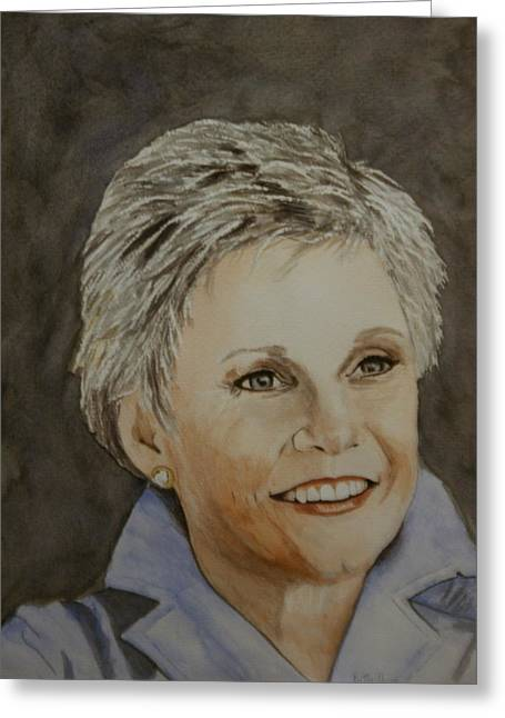 Anne Murray Greeting Card by Betty-Anne McDonald