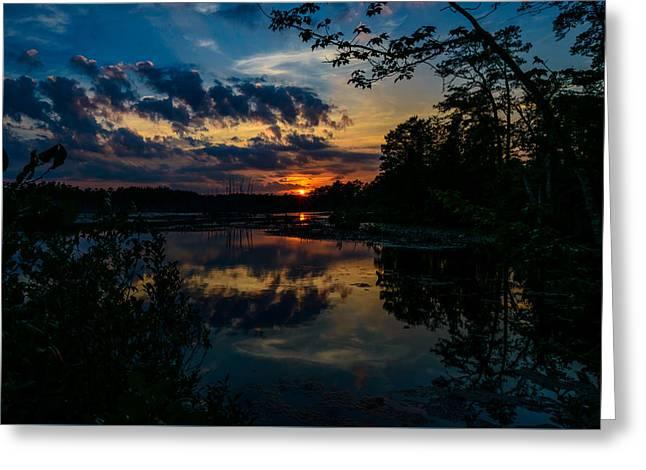 Soulful Sunset Greeting Card by Louis Dallara