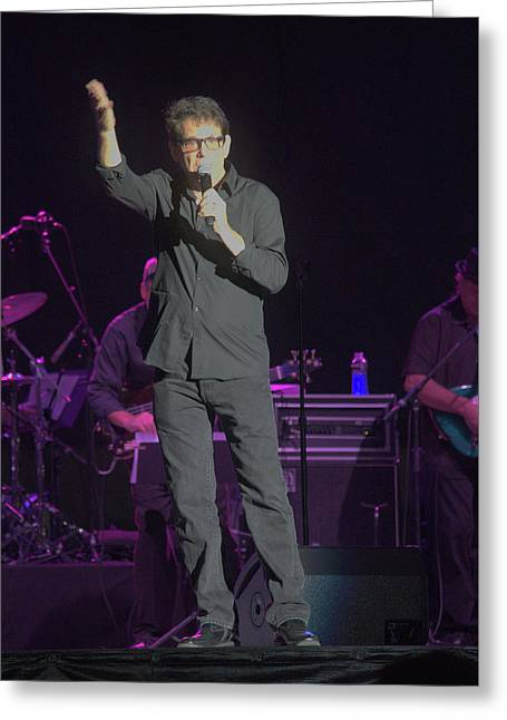 Anson Williams Singing Greeting Card by Timothy Ruf