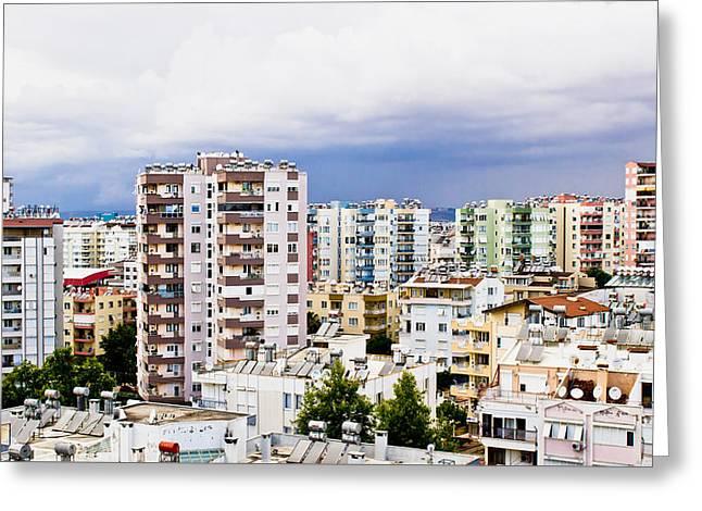 Antalya Greeting Card by Tom Gowanlock