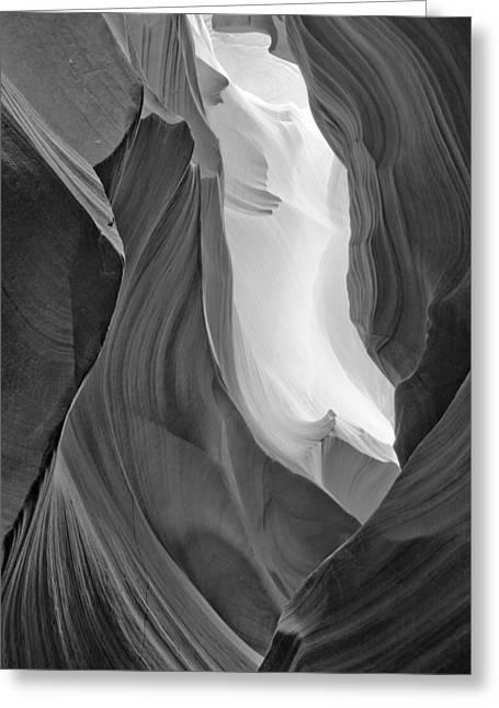 Antelope Canyon Greeting Card by Carl Amoth