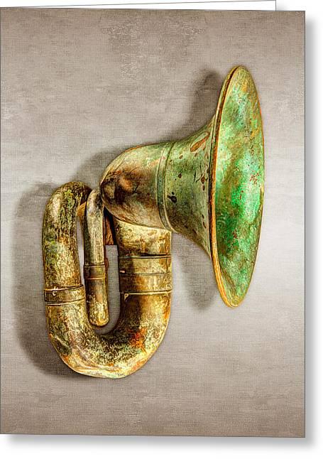 Antique Brass Car Horn Greeting Card