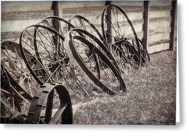 Antique Wagon Wheels I Greeting Card
