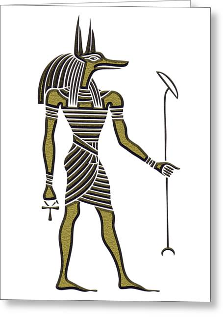 Anubis - God Of Ancient Egypt Greeting Card