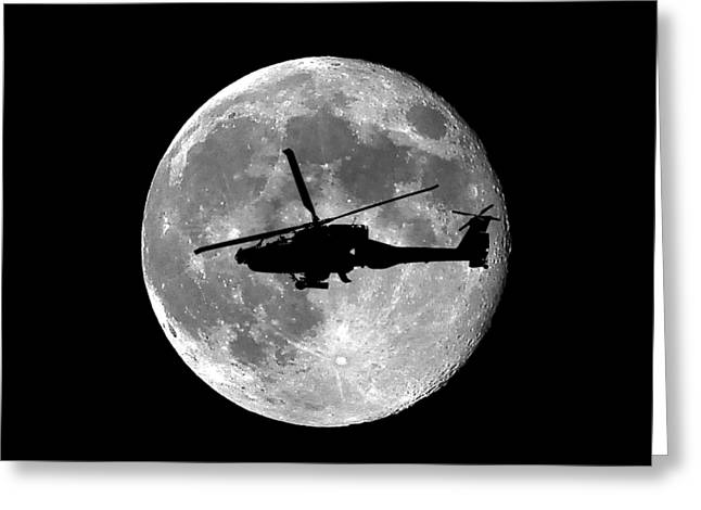 Apache Moon .png Greeting Card by Al Powell Photography USA