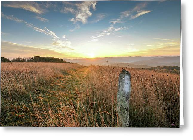 Appalachian Trail Sunrise Greeting Card