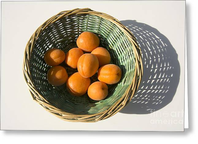 Apricots Greeting Card by Bernard Jaubert