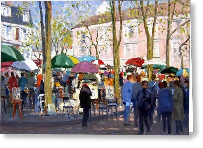 April In Paris Greeting Card
