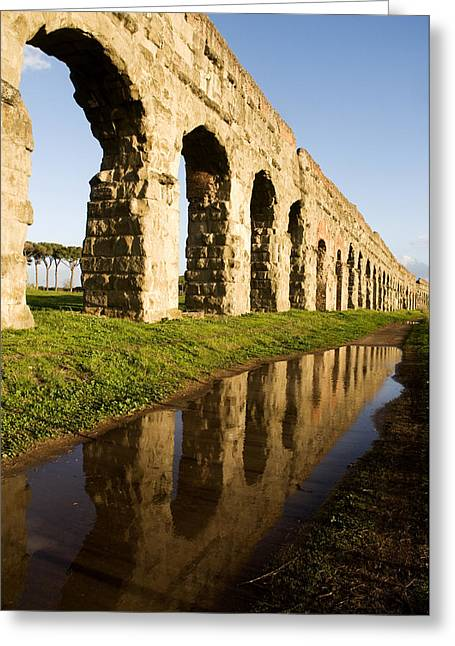 Aqua Claudia Aqueduct Greeting Card