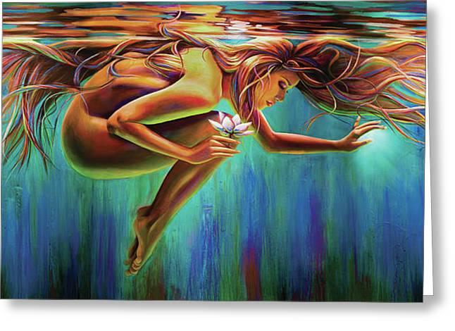 Aquarian Rebirth Greeting Card