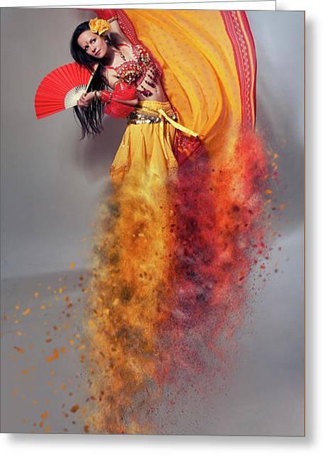 Arabian Nights  Greeting Card by Nichola Denny