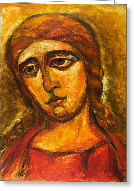 Archangel Gabriel Greeting Card by Ekaterina  Prozheyko