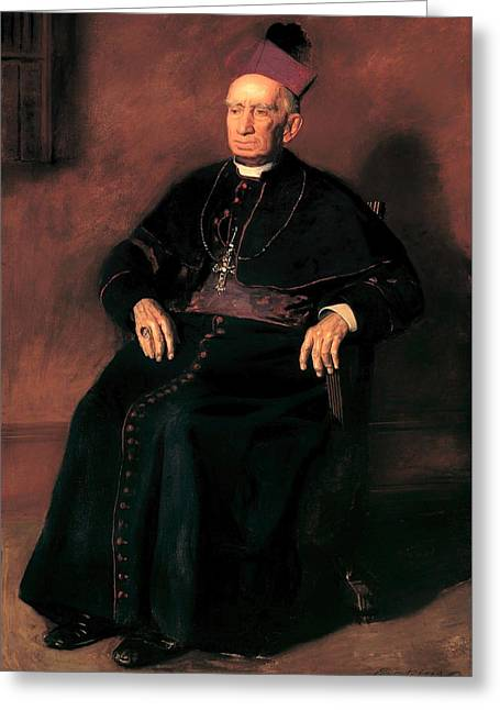 Archbishop William Henry Elder Greeting Card by Mountain Dreams