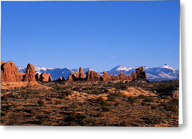 Arches National Park, Moab, Utah, Usa Greeting Card by Panoramic Images