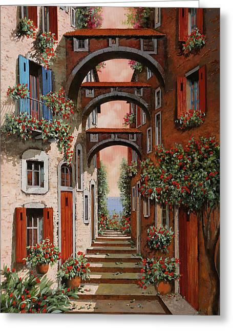 Gli Archetti Rossi Nuovi Greeting Card by Guido Borelli