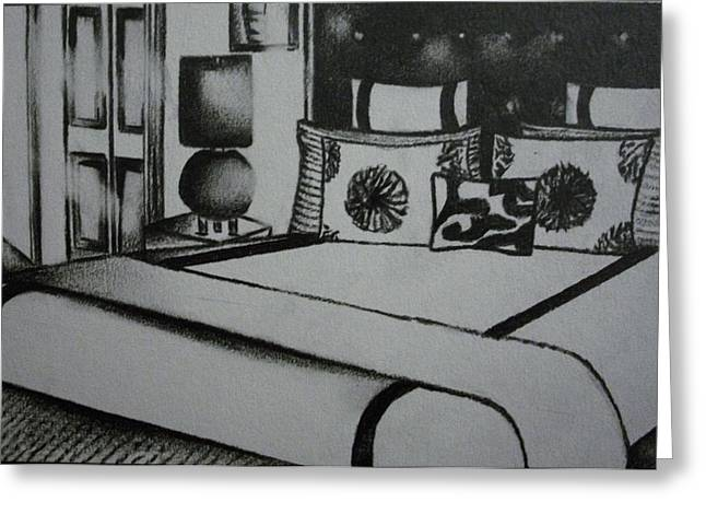 Architectural Bedroom Rendering  Greeting Card