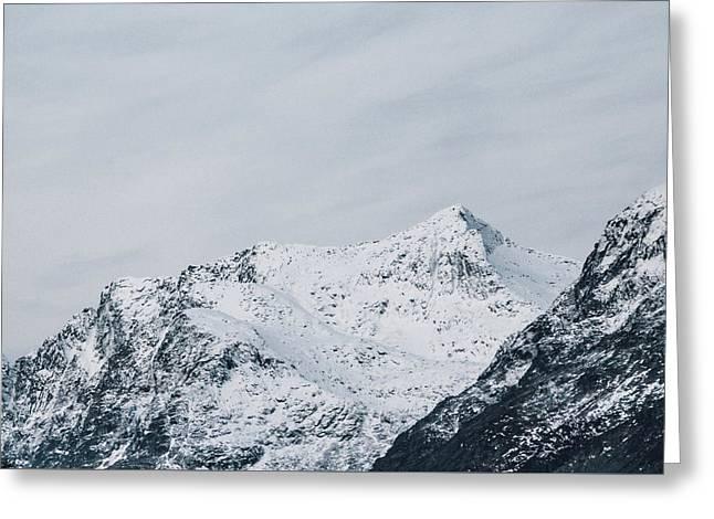 Arctic Landscape In Northern Norway, Tromso Region Greeting Card by Aldona Pivoriene