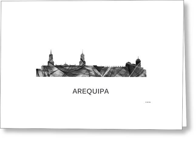 Arequipa Peru Skyline Greeting Card by Marlene Watson